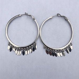 Jewelry - Hoop Earrings with Dangle Charms